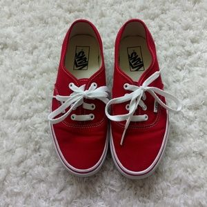 Vans Authentic (Red) Sneaker (Unisex)